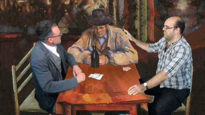Creation Theatre have a card player visitor at the table