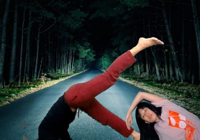 Phoenix Dance Theatre perform and dance on a dark lonely road
